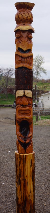 Tiki Totem Pole Carving