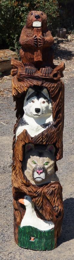 Mascot Totem Pole