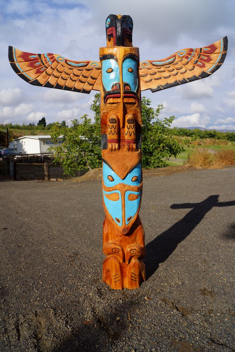 Pacific Northwest Coast Native Style Totem Pole